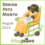 badge senior pet month