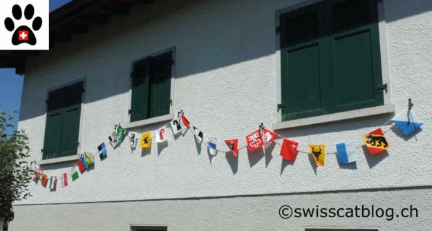 drapeaux des 26 cantons
