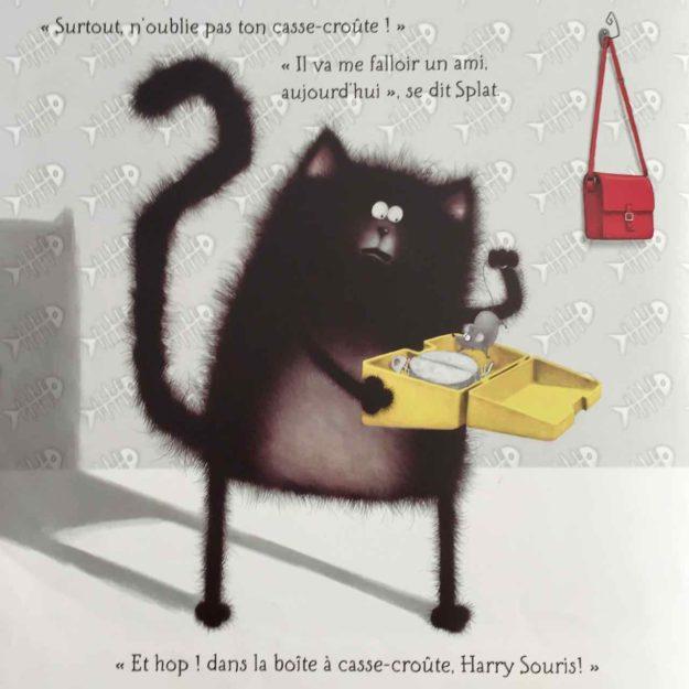 Splat emmène Harry Souris avec lui.
