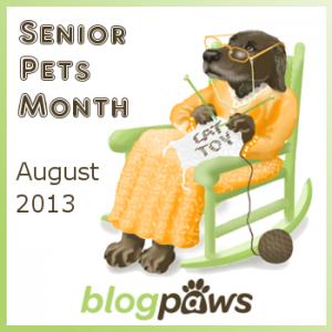 badge senior pet month