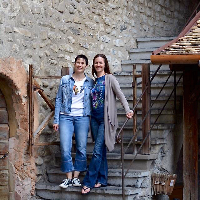 chloe and claire at chillon