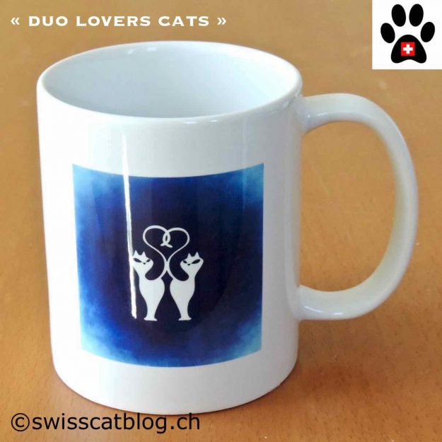 mug artinco duo lovers cats
